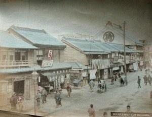 A street scene in Yokohama, c. 1880.