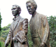 Sun Yat-sen and Miyazaki Toten, still together today (at least, in the courtyard of the Nanjing Museum of Modern History).