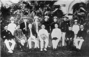 Sun Yat-sen at a meeting of Tongmenghui sympathizers in Singapore.