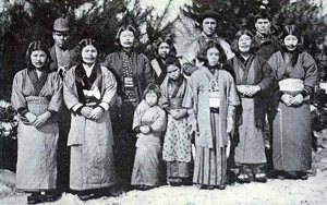 An Ainu family from the early 20th century.