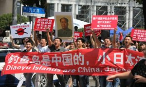 Anti-Japanese protests like this one are becoming an increasingly common fixture of major Chinese cities. This photo was taken in Shanghai in 2012.
