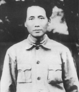 Mao Zedong in 1931 during the siege of the Jiangxi Soviet. The Guomindang assault on communist-held Jiangxi would cost Mao his wife and brother, and eventually force the communists to retreat across the entire country. During that retreat -- the Long March -- Mao would assume leadership of the party.
