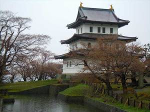 Matsumae castle, the base of the Matsumae clan during the Edo period. From this castle, the Matsumae were tasked with overseeing all aspects of the Japan-Ainu relationship.
