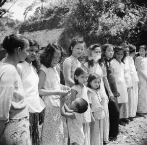 Comfort women rescued from a station off the Andaman Islands to the south of Burma.