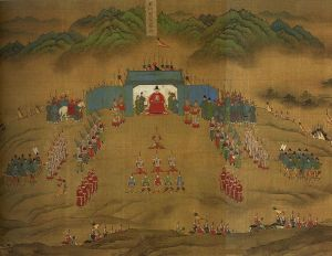 Hideyoshi's invasion of Korea -- pitting him against Ming dynasty armies like the one depicted here -- was a huge disaster, wasting money and lives in a futile and unwinnable campaign that undermined his regime.