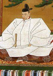 Hideyoshi in his prime as kampaku (imperial regent). The title he's best known by, Taiko, is the one given to a retired regent. His family background made him ineligible for the position of Shogun.