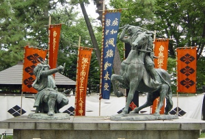The mythical duel between Kenshin (right) and Shingen (left).