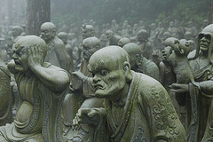 The 500 Rakan statues of Enpenji depict the Rakan (Arhats in Sanskrit), the original disciples of the Buddha.