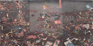 A separate Edo period depiction of the Battle of Kawanakajima.