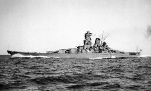 The Yamato during her sea trials, December 1941.