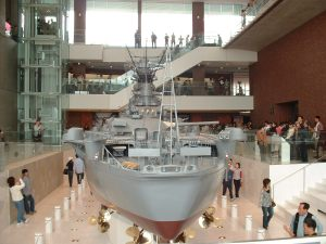 The museum at the old Kure Naval Yards in Hiroshima has a scale replica of the Yamato.
