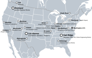 Manhattan Project sites across the US and Canada.