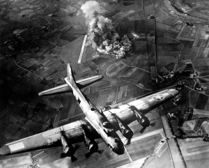 The US 8th Airforce attacks Marienburg, Germany in 1943. Despite interwar protests against the inhumanity of bombing enemy nations, belligerents in World War II rapidly abandoned their scruples. After all, it's better than doing nothing, right?