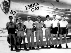 The Crew of the Enola Gay, which dropped the bomb on Hiroshima. The name comes from Enola Gay Tibbets, mother of Paul Tibbets (the pilot) who is standing front and center.