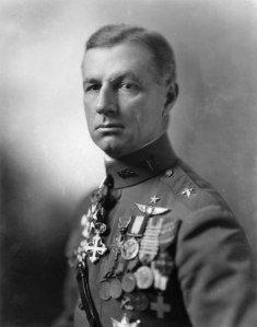 "General William ""Billy"" Mitchell, one of the earliest proponents of using bombing to quickly win wars. Mitchell's time in the US Army Air Force was marked with controversy, but he did succeed in getting others in the officer corps to accept his ideas, laying the groundwork for future bombing campaigns."