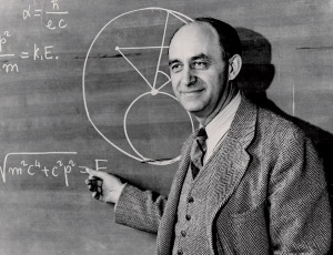 Enrico Fermi, the man who trolled the Manhattan Project by suggesting the Trinity bomb might destroy New Mexico (and really, who would miss it). Also he did some cool science, I guess.