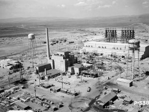 The Hanford B Reactor. Hanford, WA was chosen as a site for the project because of its remote location. Here, the plutonium for the Nagasaki bomb was enriched.