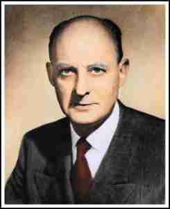Reinhold Niebuhr, whose critique of the atomic bomb helped spur Stimson to defend Truman administration policy.