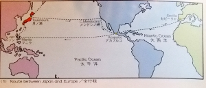 The route taken by Hasekura and company to Europe and back.