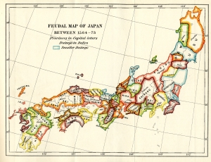 This map will help you get a feel for the locations of the major domains. However, it's very simplified; in reality, Japan was home to 260 odd daimyo.
