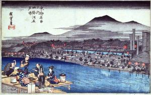 A view of the Sumida river in the Edo Period. During the Edo Period, Kyoto lost all political power and was ruled directly by the Tokugawa. However, compared to the chaos of the Ashikaga and the Sengoku period, I doubt many people complained.