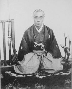 Tokugawa Yoshinobu was the favorite for the position of shogun among the tozama and shimpan daimyo in 1858; as a bright 20 year old in the prime of his life, he was felt to be far preferable to the 12 year old Iemochi. He would lose out this time, but this is not the last we will see of young Yoshinobu.