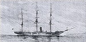 The Kanrin Maru, bought by the Tokugawa in 1857.