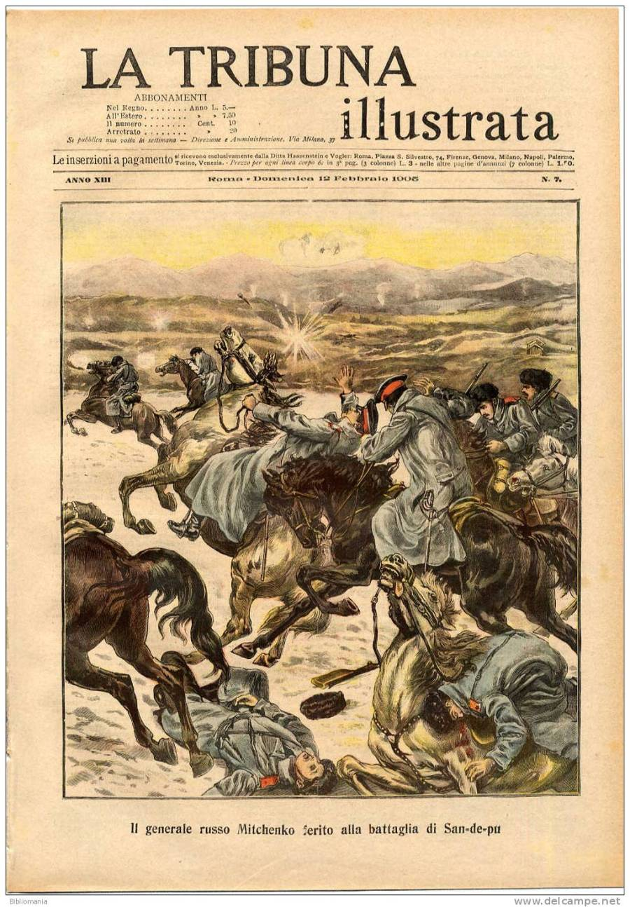 The Russo-Japanese War was big news around the world. This Italian magazine carried front page coverage of the Battle of Sandepu.
