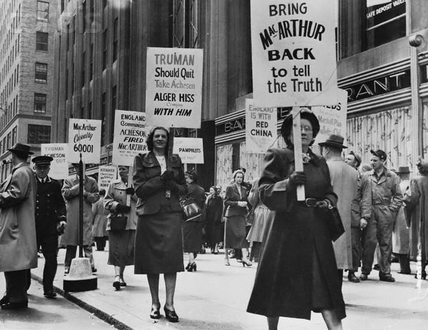 Pro-MacArthur Demonstration in New York, 1951
