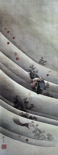 Katsushika_Hokusai-Ducks_in_a_Stream__1847